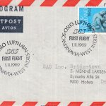 Oslo, Norway to Barbados First Flight Cover 1969