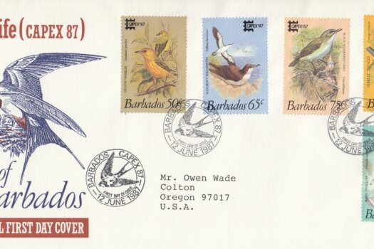 Barbados Capex '87 Birds of Barbados FDC