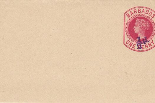 Barbados 1892 | Newspaper Wrapper ½d on 1d Carmine HGE3