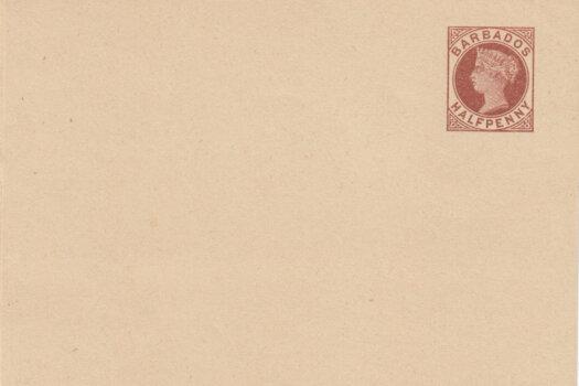 Barbados 1882 | Newspaper Wrapper ½d brown HGE1