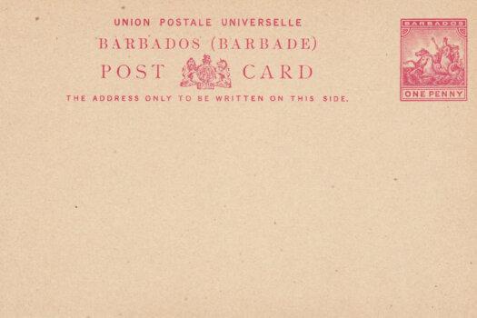 Barbados 1892/3 | Post Card 1d Carmine HG9