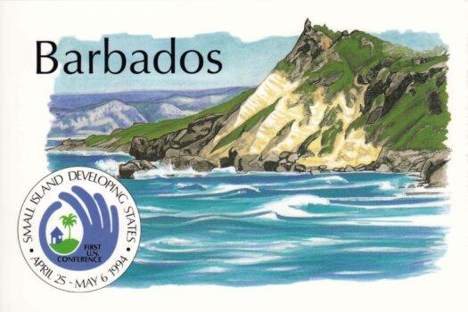 Barbados postcard Pico Teneriffe - Small Island Developing States stamps 1994