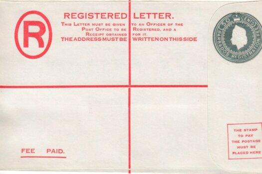 Scan Barbados Registered Letter - QEII 50c