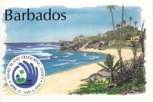 Barbados postcard Bathsheba - Small Island Developing States stamps 1994