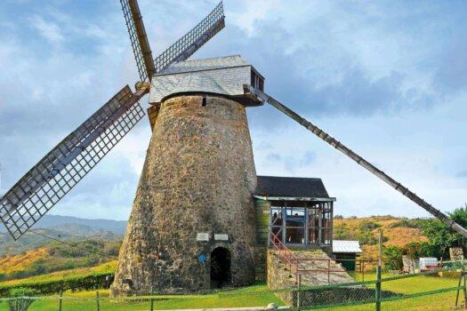 Barbados Stamps Pre Paid Postcard - Morgan Lewis Windmill