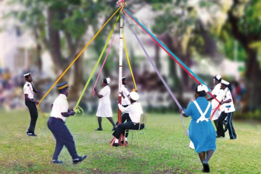 Barbados Stamps Pre Paid Postcard - The Maypole