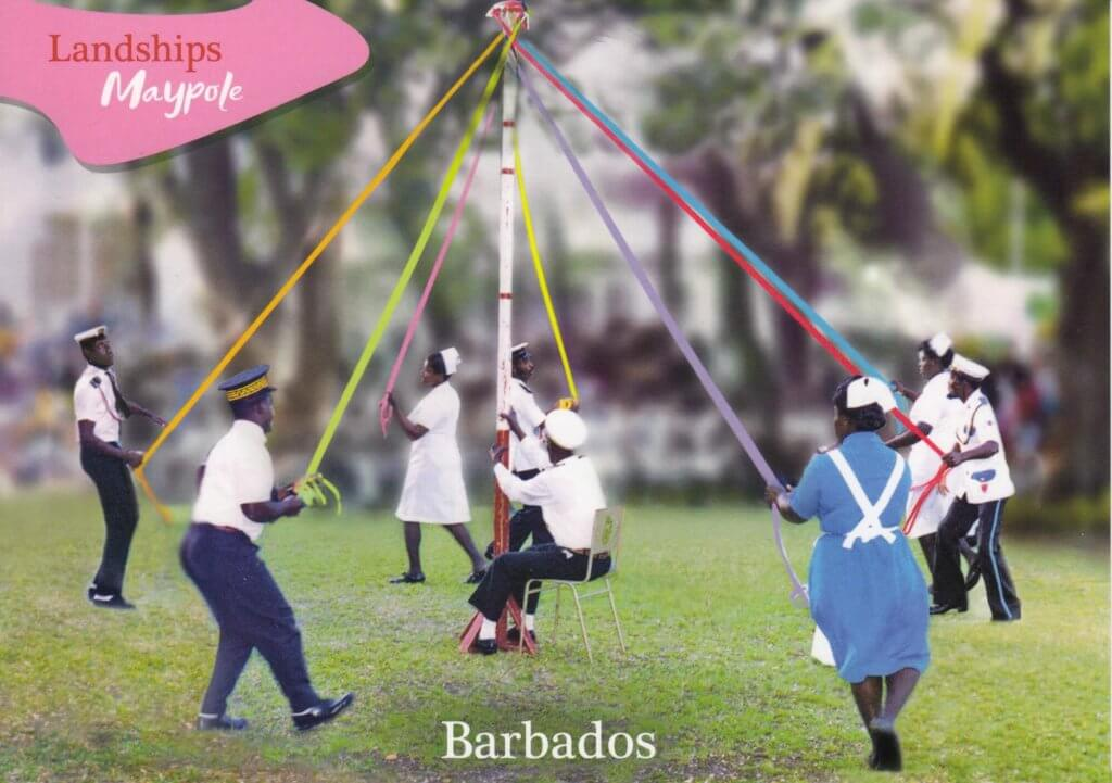 Barbados Stamps Pre Paid Postcard - The Maypole - Actual Card