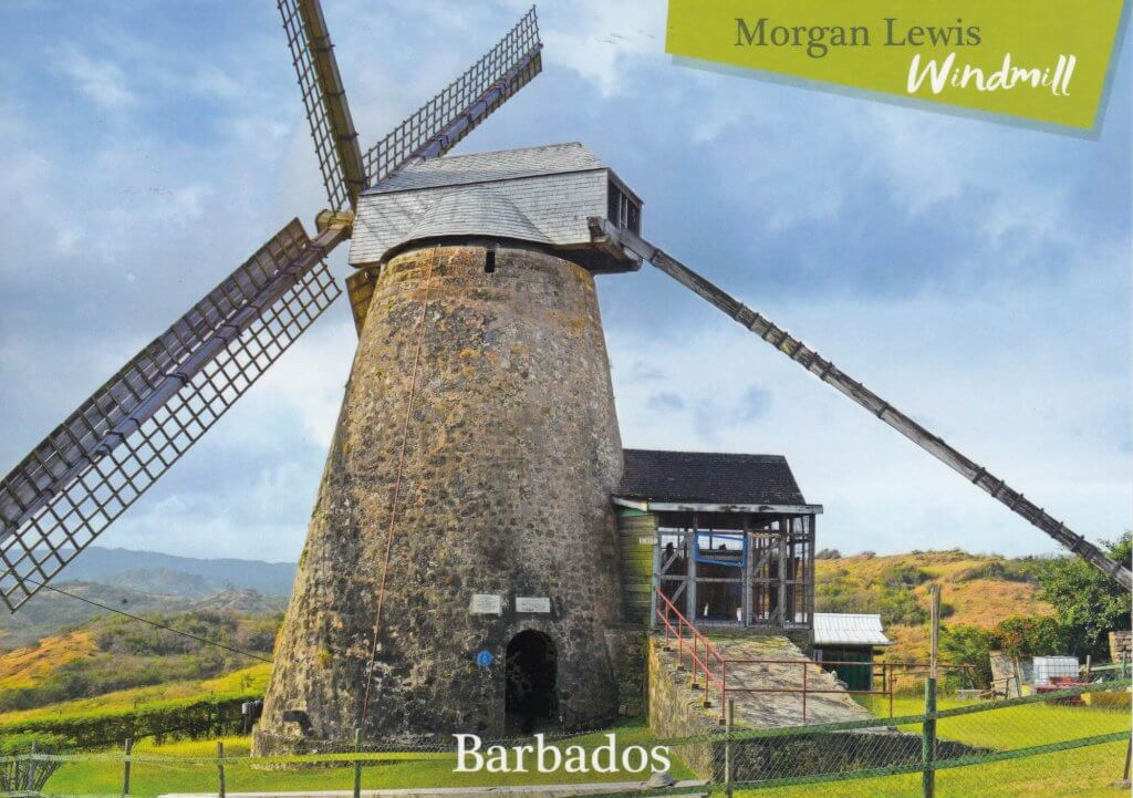 Barbados Stamps Pre Paid Postcard - Morgan Lewis Windmill - Actual Card