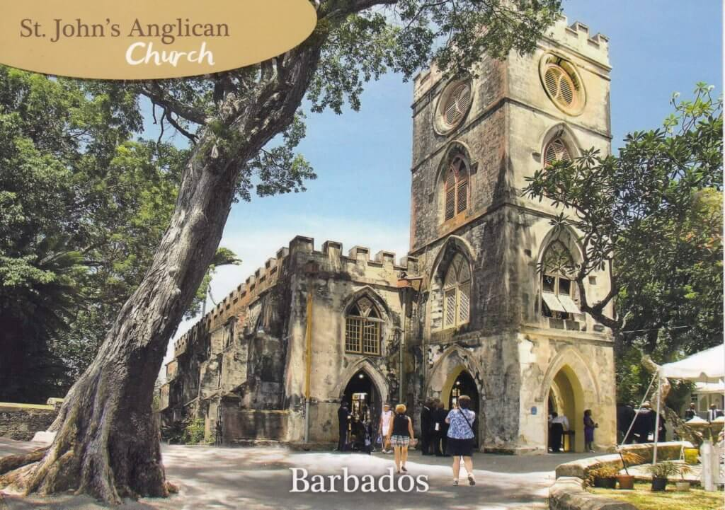 Barbados Stamps Pre Paid Postcard - St. John's Parish Church - Actual Card