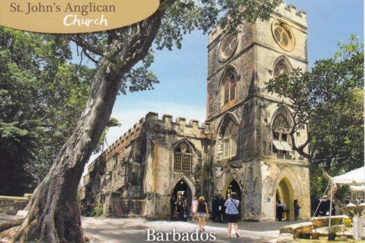 Barbados Stamps Pre Paid Postcard - St. John's Parish Church - Actual Card