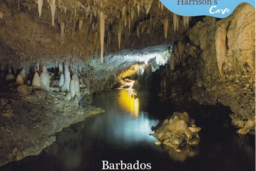 Barbados Stamps Pre Paid Postcard - Harrison's Cave - Actual Card