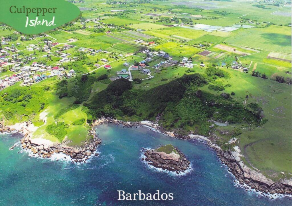 Barbados Stamps Pre Paid Postcard - Culpepper Island - Actual Card