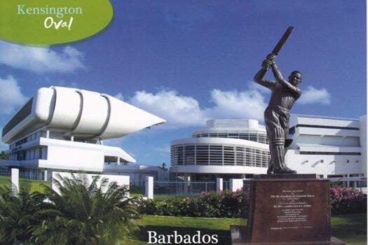 Barbados Stamps Pre Paid Postcard - Kensington Oval - Actual Card