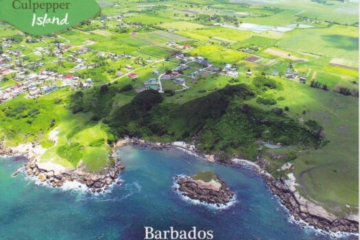 Barbados Stamps Pre Paid Postcard - Culpepper Island - posted on 3rd July, the day before official release