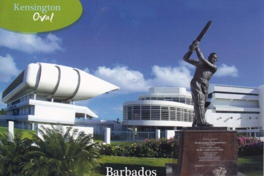 Barbados Stamps Pre Paid Postcard - Kensington Oval - used on 6th July