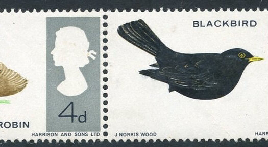 GB Birds 1966 colour issue - legs omitted