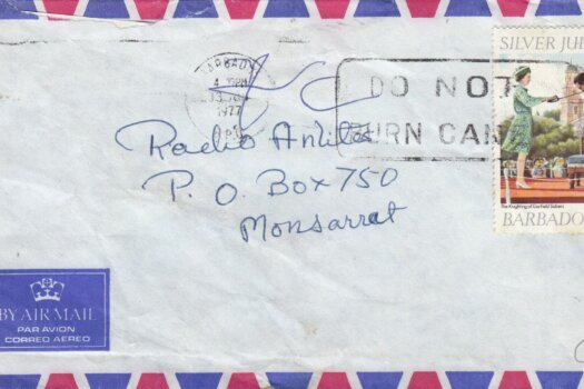 """Barbados Slogan Cancel """"Do Not Burn Canes"""" on June 1977 cover with 15c 'Knighting of Garfield Sobers' stamp"""