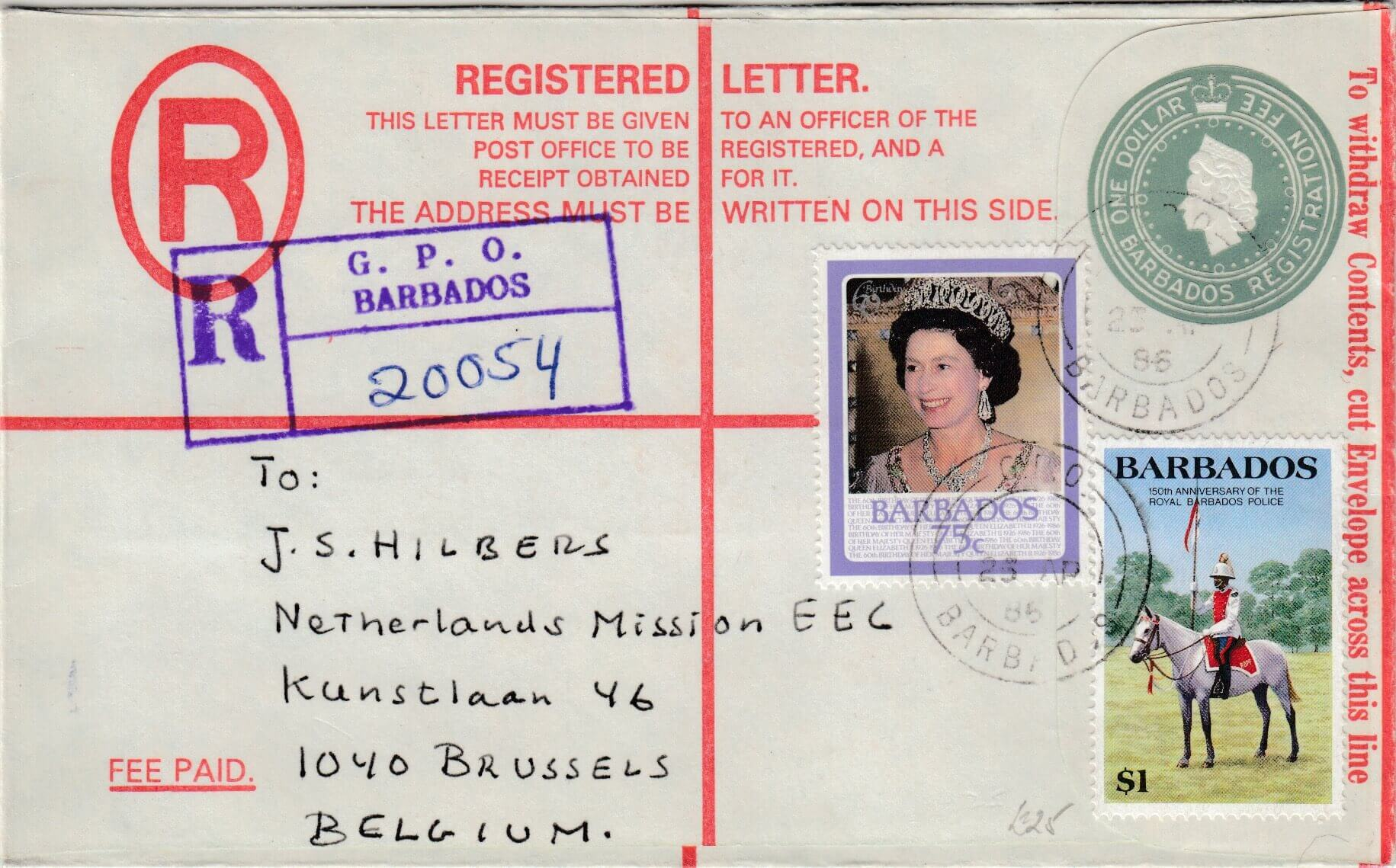 Modern Barbados Registered letters are not as common as you might think