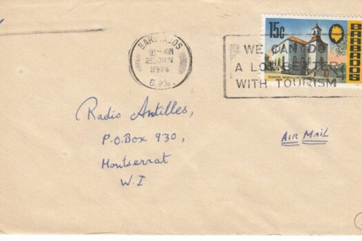"Barbados Slogan Cancel ""We can do a lot better with Tourism"" on 1974 cover"