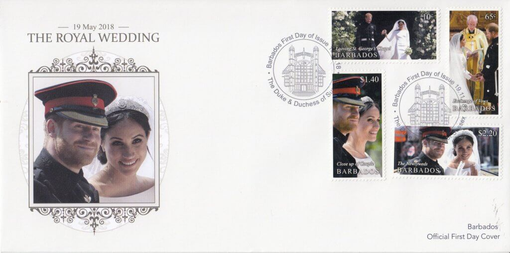 Barbados Stamps Royal Wedding 2018 First Day Cover