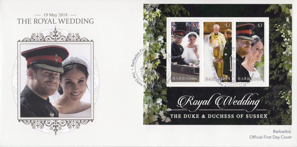 Barbados Stamps Royal Wedding 2018 Souvenir Sheet First Day Cover