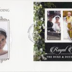 Barbados 2018 Royal Wedding Meghan and Harry Souvenir Sheet First Day Cover