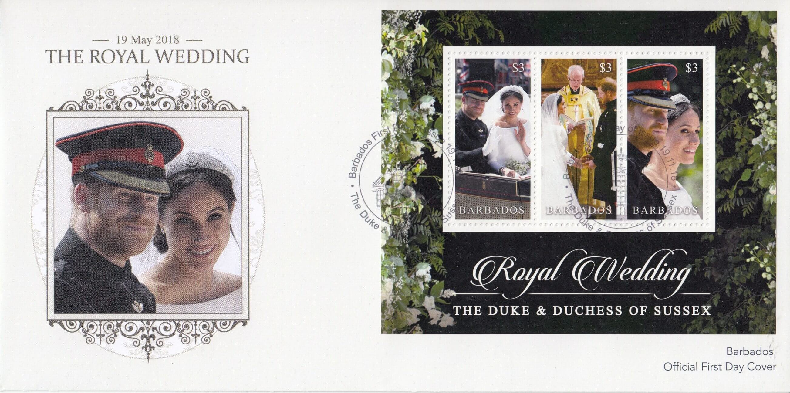 Barbados Royal Wedding 2018 – Souvenir Sheet First Day Cover