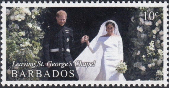 Barbados Royal Wedding 2018 – 10c stamp – Leaving St George's Chapel