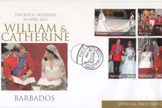 Barbados 2011 Royal Wedding Duke & Duchess of Cambridge FDC