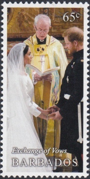 Barbados Royal Wedding 2018 – 65c stamp – Exchange of Vows