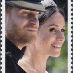 Barbados Royal Wedding 2018 – $1.40 stamp – Close up of the Couple