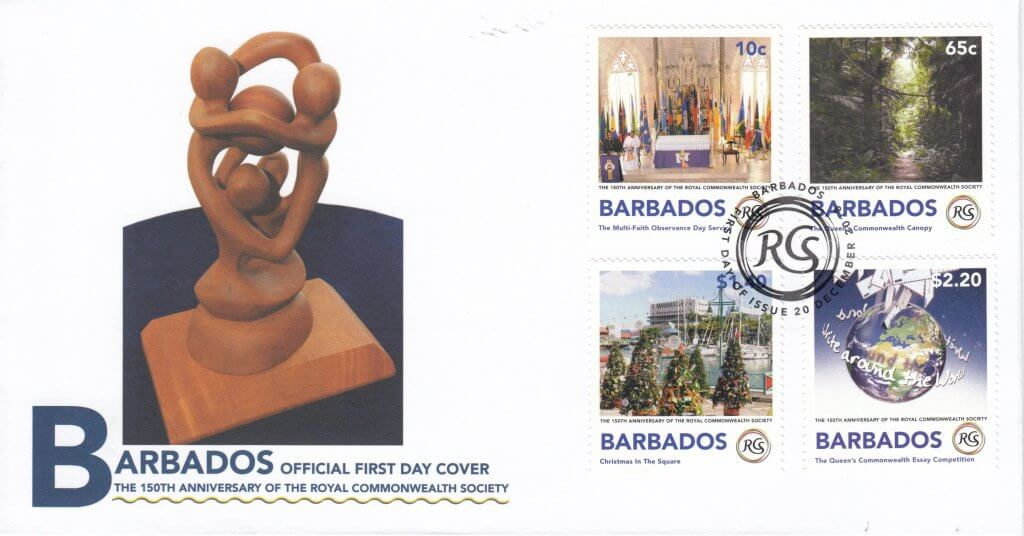 First Day Cover - The Royal Commonwealth Society 2018 | Barbados Stamps