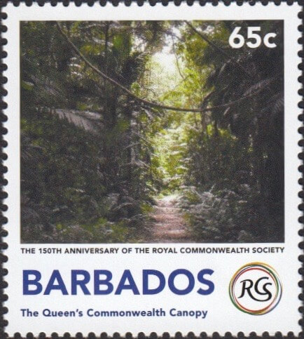 The Queen's Commonwealth Canopy - The Royal Commonwealth Society 2018 | Barbados Stamps
