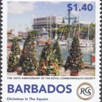 Christmas in The Square - The Royal Commonwealth Society 2018 | Barbados Stamps