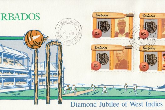 Barbados Cricketers FDC 1988