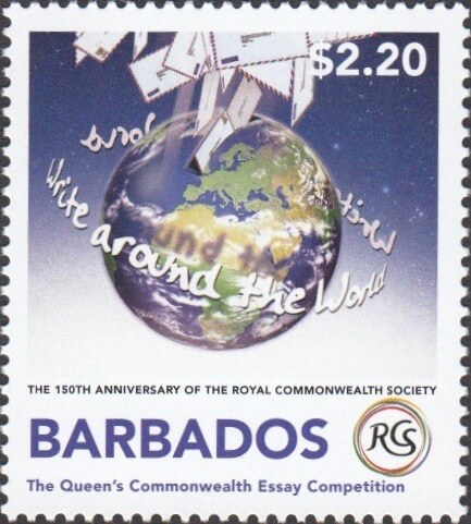 Barbados Stamps final issue of 2018 celebrates 150 years of The Royal Commonwealth Society
