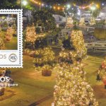 $5.00 - Christmas in the Square Souvenir sheet - The Royal Commonwealth Society 2018 | Barbados Stamps