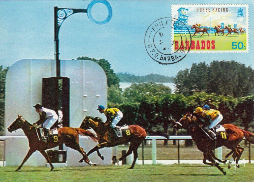 Barbados Horse Racing Commemorative or Souvenir Postcard 1