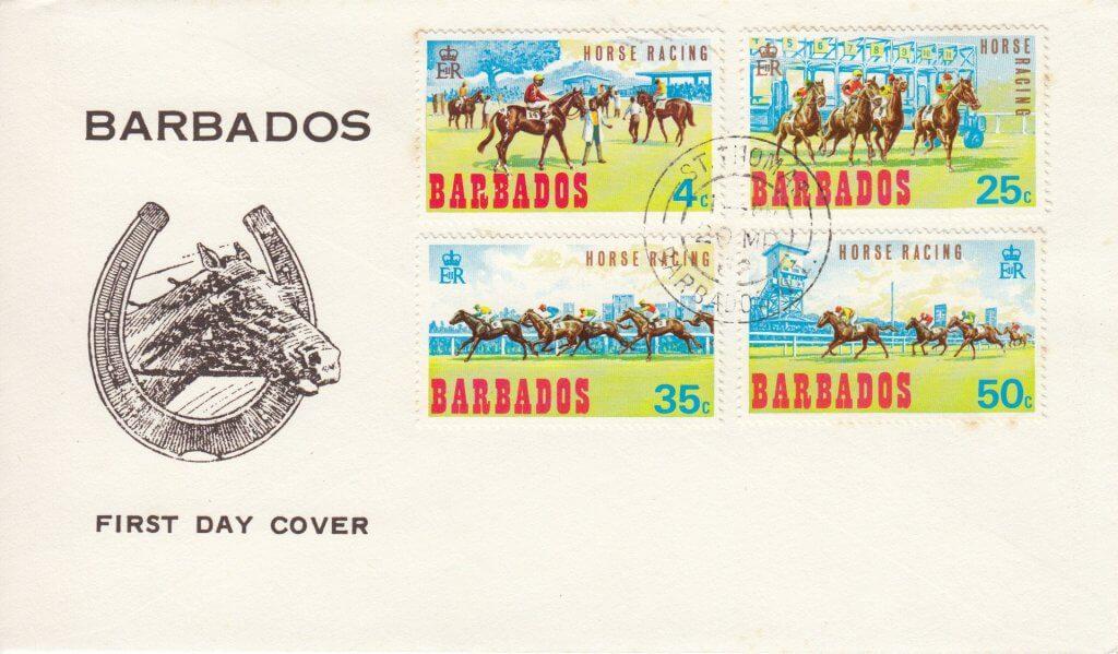 Barbados Horse Racing 1968 FDC