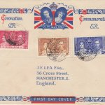 Coronation 1937 Barbados FDC - on Illustrated JE Lea Cover