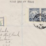 Barbados 1947 3d Blue SG252c FDC on plain cover