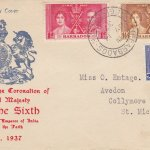 Coronation 1937 Barbados FDC - Illustrated Cover