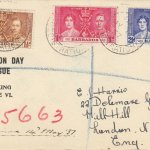 Coronation 1937 Barbados FDC - Printed Cover