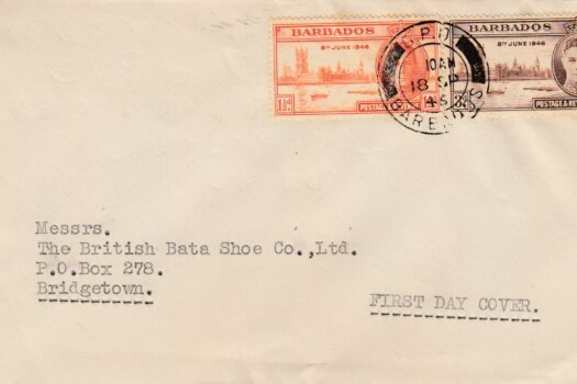Barbados Victory 1946 FDC - on plain cover