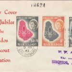 Barbados Boy Scout Association Golden Jubilee FDC 1962 - illustrated cover