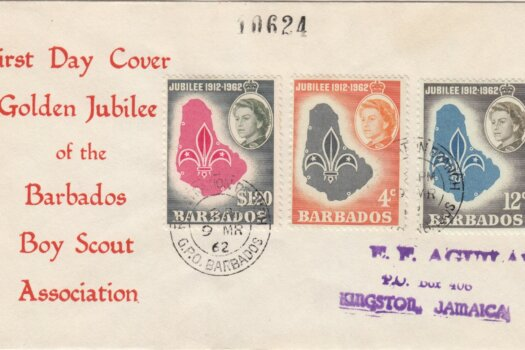 Barbados 1962 Boy Scout Association Golden Jubilee FDC - illustrated cover
