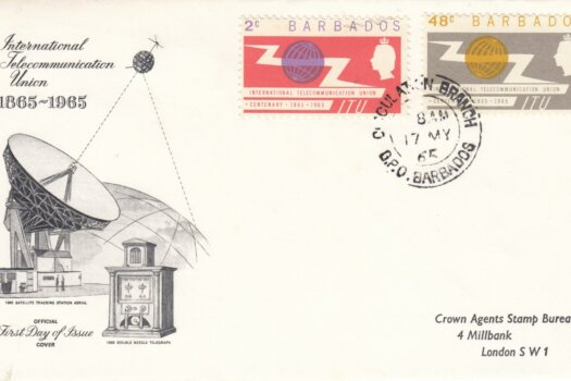 Barbados International Telecommunication Union FDC 1965 - illustrated cover