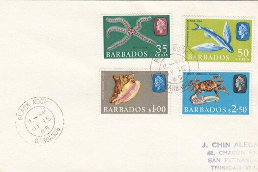 Barbados 1965 Marine Life FDC (3) - plain cover