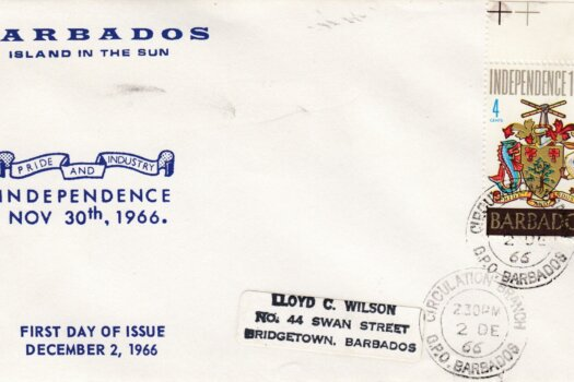Barbados 1966 Independence FDC - illustrated cover (single stamp)