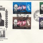Barbados Sir Winston Churchill FDC 1966 - WSC illustrated cover